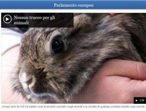 Stop ai test sugli animali per i prodotti cosmetici – Fonte: Parlamento Europeo