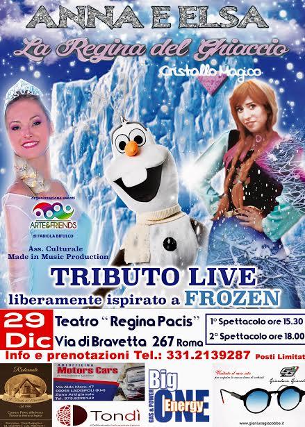 """Musical """"Anna e Elsa- la regina del Ghiaccio"""" - OrticaWeb"""