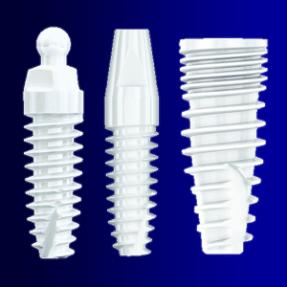Os belos Implantes de zircônio.