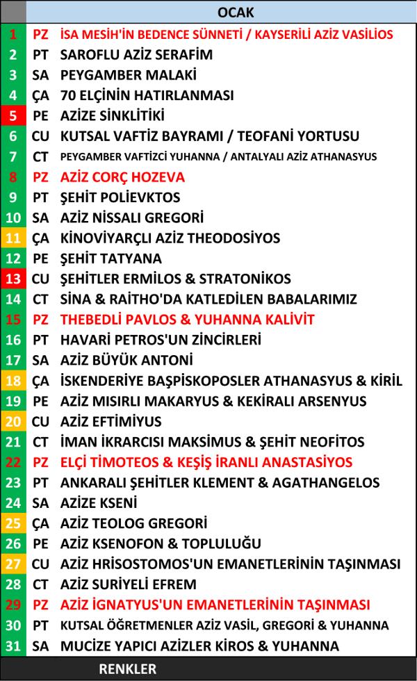 2017 OrtodoksTakvimi