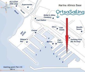 marina alimos ortsasailing base