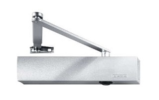 Surface mounted door closer with standard arm