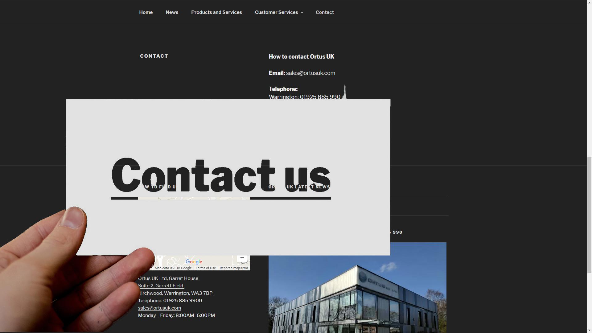 Ortus UK Contact us