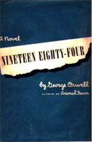 [George Orwell: 'Nineteen Eighty-Four'. Front cover page.]