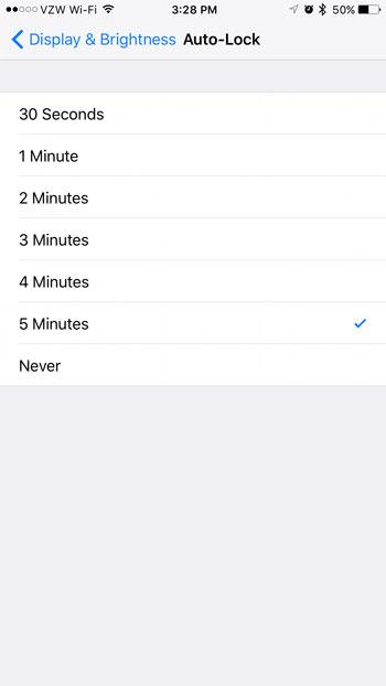 iphone screen locking too fast fix