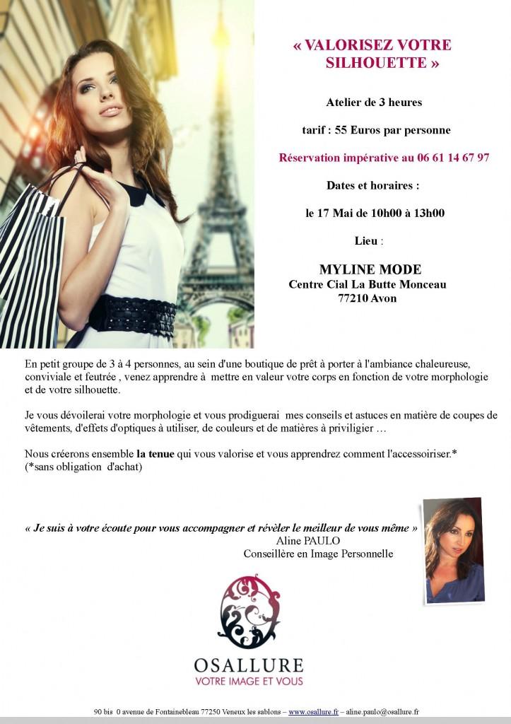 """Le 17 Mai , Nouvel Atelier """" VALORISEZ VOTRE SILHOUETTE"""""""
