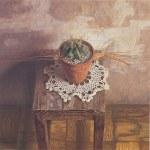 1993年「サボテン」S6号 キャンバス、エマルジョン地、油彩