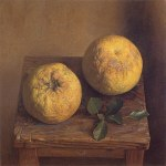 1998年「蜜柑」S4号 キャンバス、エマルジョン地、油彩、テンペラ