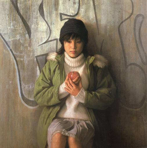 2000年「聴」 s25号 パネル、白亜地、油彩
