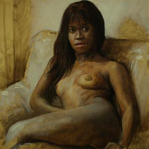 "2011 ""Mia"" - oil sketch 40×40cm, oil on panel"