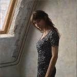 2012年「Sous les toits」S25号、パネル、白亜地、油彩