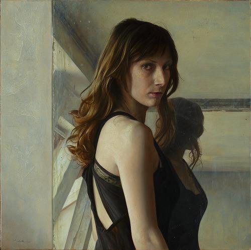 2012年「Le Miroir」S12号、パネル、白亜地、油彩