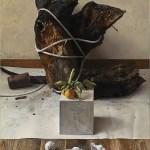 2014年「風化の肖像」F30号 パネル、白亜地、油彩