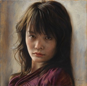 "2016 ""うつろう"" - oil sketch S4(333×333cm), oil on panel"