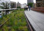 ビルとビルの間を貫く遊歩道「ハイライン第2区間」