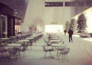 ニューヨークで雪が降りました