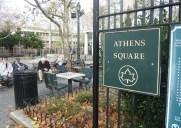 移民の街アストリアを象徴する公園「アセンズ・スクエアー」