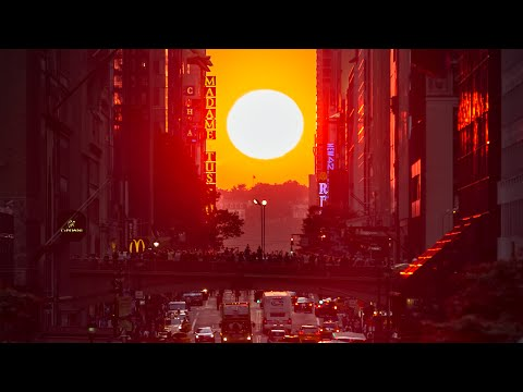 1年で最も美しい夕暮れ時「マンハッタンヘンジ」を見よう(2018年版)
