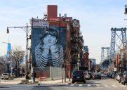 ウイリアムズバーグで愛される女の子の壁画「ロスト・タイム」