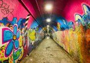 落書きで覆われた長さ300メートルのトンネル「191st Street Tunnel」
