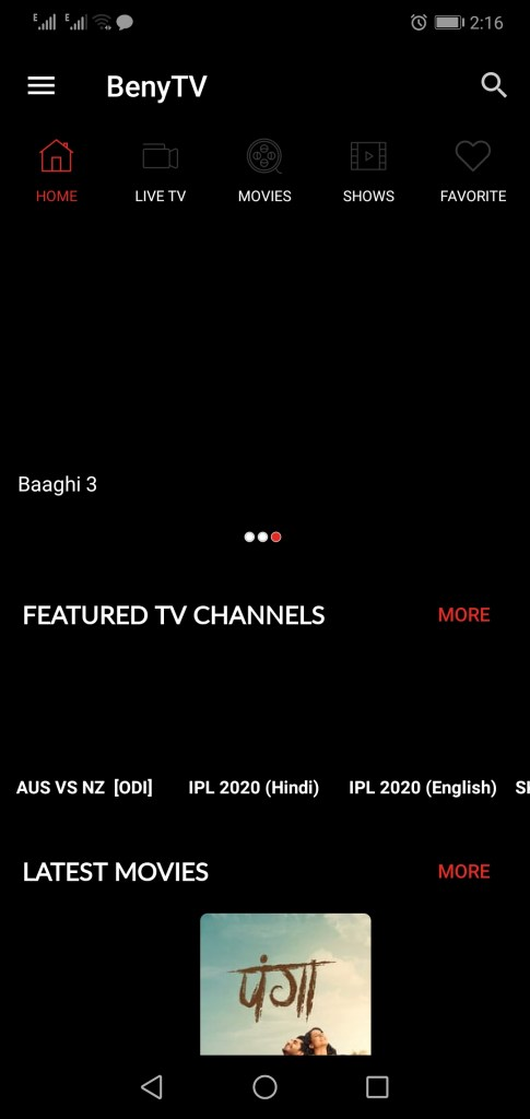 Screenshot-beny-TV-App-Apk-For-Android