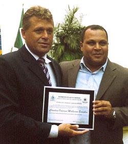 O vice-presidente da Câmara, Marcos Vinícius, com o advogado Dr. Claudius Valerius Malheiros.