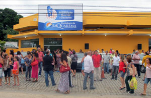 As novas instalações da Secretaria Municipal de Promoção Social, em Bacaxá, reunem vários serviços num só lugar, entre eles o Bolsa Família, o Detran, para carteira de identidade, entre outros.