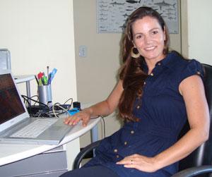 A oceanógrafa Andréia Montibeler