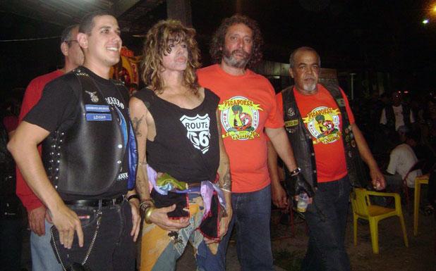 O músico Serguei é o padrinho do Pecadores Moto Clube que completará 10 anos em junho