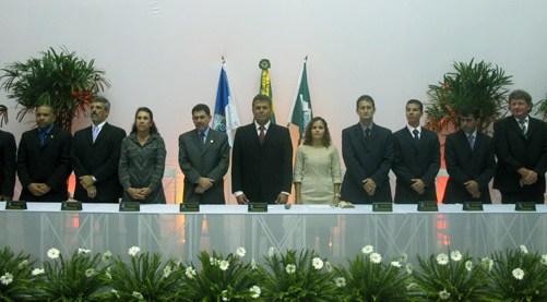 A cerimônia da Câmara Municipal