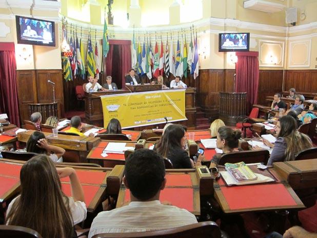 """No final do Encontro, foi aprovada a """"Carta de Niterói"""" com vários pontos, entre eles a defesa da exigência do diploma universitário para o exercício da profissão. (Foto: Edimilson Soares)"""