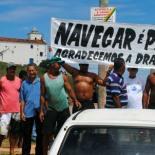 A organização dos pescadores que levaram faixas e mostraram a capacidade de mobilização do grupo, a favor da dragagem da lagoa. Fotos: Agnelo Quintela