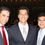 O deputado Marcelo Matos, o presidente da Câmara dos Deputados, Marcos Maia, e o vereador Rafael Pinheiro, em Brasília.