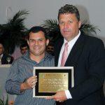 O empresário Carlos André  com o vereador Vinícius