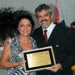 Maria de Fátima e  o vereador Paulo Renato