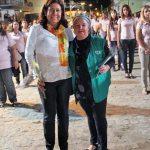Mulheres homenageadas:  Rosangela Borges e Dulce Tupy
