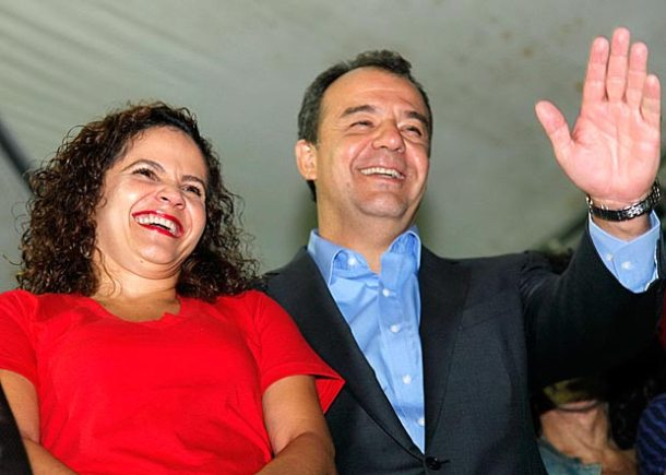 A prefeita Franciane  e o governador Sérgio Cabral, uma dobradinha que deu certo. (Foto: Edimilson Soares)
