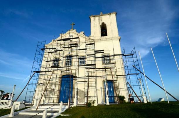 Reforma da Igreja de N. Sra. de Nazareth. (Foto: Lia Caldas/Subito Creative)
