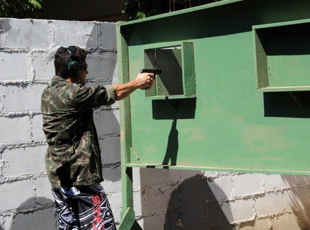 O CTS é um espaço de  treinamento de tiro no Porto Novo. (Foto: Edimilson Soares)