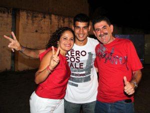 A prefeita Franciane, Pitiquinho e Paulo Melo na campanha que foi um sucesso absoluto.