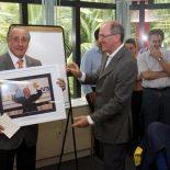 O presidente da CBV Ary Graça recebendo homenagem como o novo presidente da FIVB. (Fotos: Alexandre Arruda/CBV)