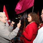 O ex-prefeito Jurandir Melo em discurso de apoio à prefeita Franciane. (Foto: Waldo Siqueira)