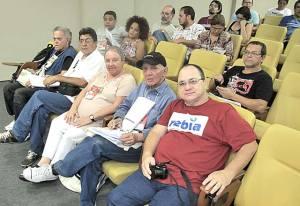 Parte da delegação do Estado do Rio de Janeiro, tendo à frente o jornalista ambiental Vilmar Berna. Foto: Dulce Tupy)