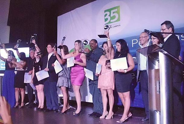 A festa dos premiados. (Foto: Guilherme Stocchero)