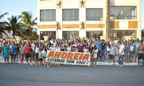 Abraço em Andreia e Academia Mitra