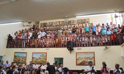 Posse dos vereadores e eleição da mesa diretora da Câmara Municipal