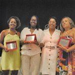 A vereadora Adriana com suas indicações ao Mulheres de Ouro, Carmen Lúcia, Izaura Eni  e Teresinha Matha