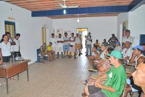 Na Assembleia, foram discutidos vários temas, entre eles a atualização da carteira dos pescadores, a Barra Franca  e a fiscalização da pesca