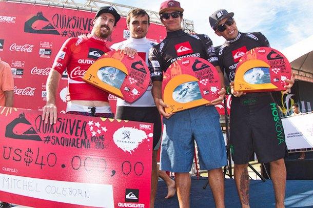 Na Praia de Itaúna, Raoni leva o 3º lugar e sobe ao pódio do WQS em casa