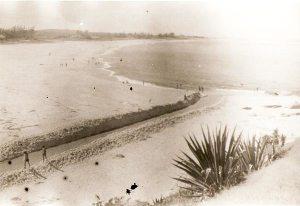 A Barra era aberta manualmente ou com máquinas,  antes da obra da Barra Franca (Silenio Vignoli)